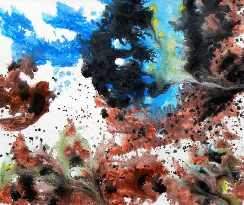 Abstract - Evidence 21 c89851 50x60cm exzellentes Ölgemälde