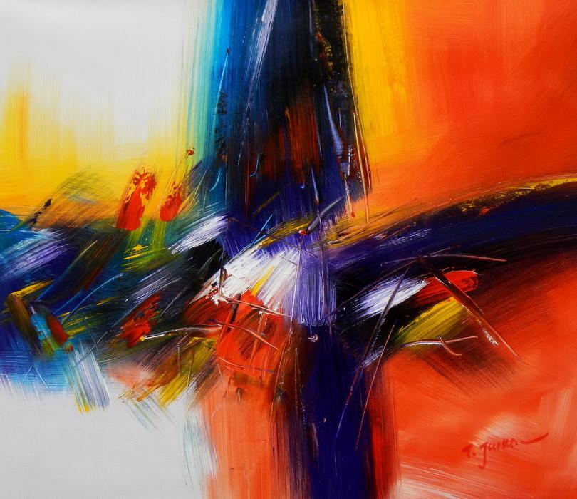 Abstract - New York sailing journey c89876 50x60cm abstraktes Ölgemälde handgemalt