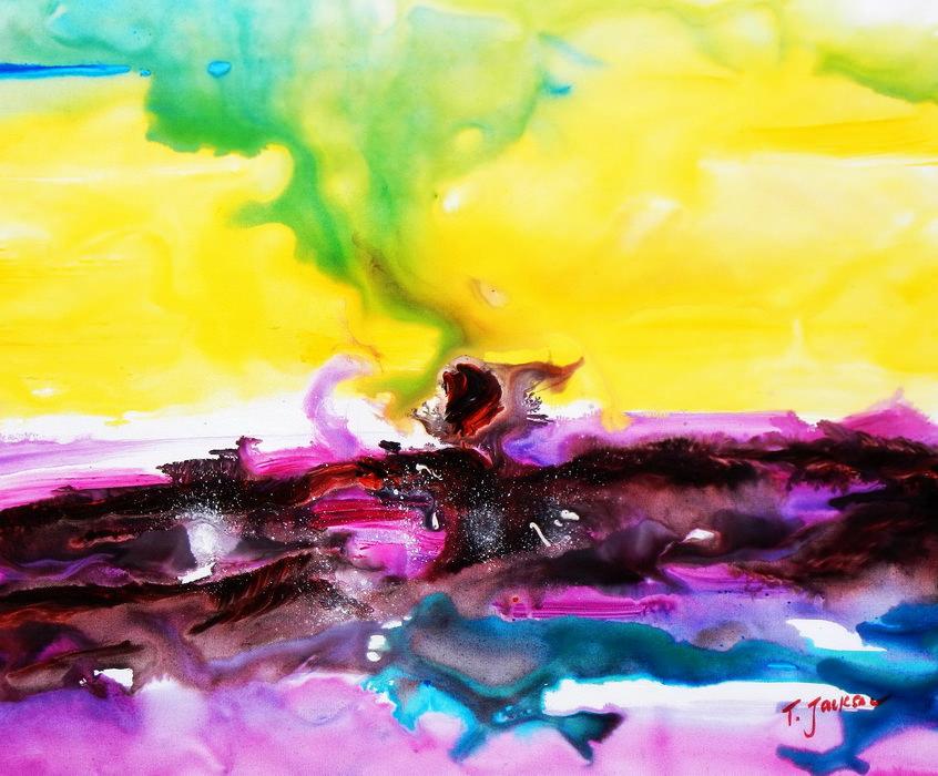 Abstrakt - Rendezvous auf Jupiter c89896 50x60cm abstraktes Ölgemälde