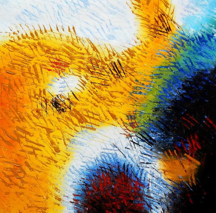 Abstrakt - Berlin Potsdamer Platz g90242 80x80cm abstraktes Ölbild handgemalt