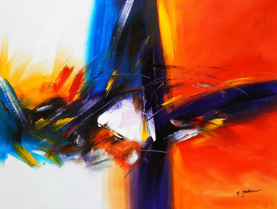 Abstract - Impact study i90286 80x110cm abstraktes Ölgemälde