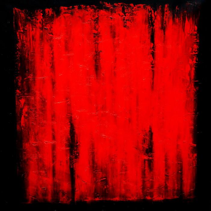 Abstrakt - Black Ruby m90361 120x120cm abstraktes Ölgemälde handgemalt