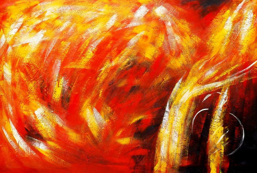 Abstrakt - Der Funkenflug p90402 120x180cm abstraktes Ölbild handgemalt