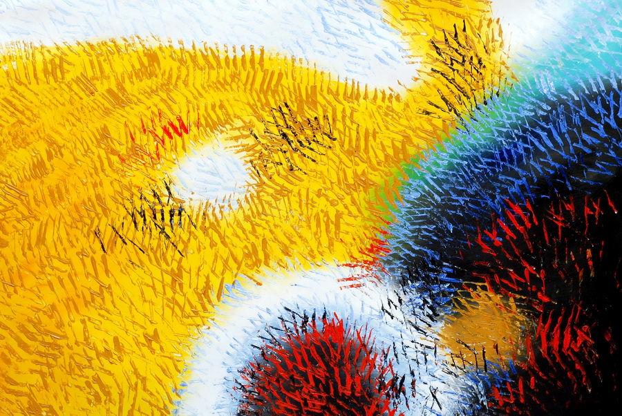 Abstrakt - Berlin Potsdamer Platz p90411 120x180cm abstraktes Ölbild handgemalt