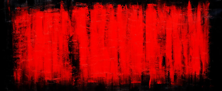 Abstrakt - Black Ruby t90380 75x180cm abstraktes Ölgemälde handgemalt
