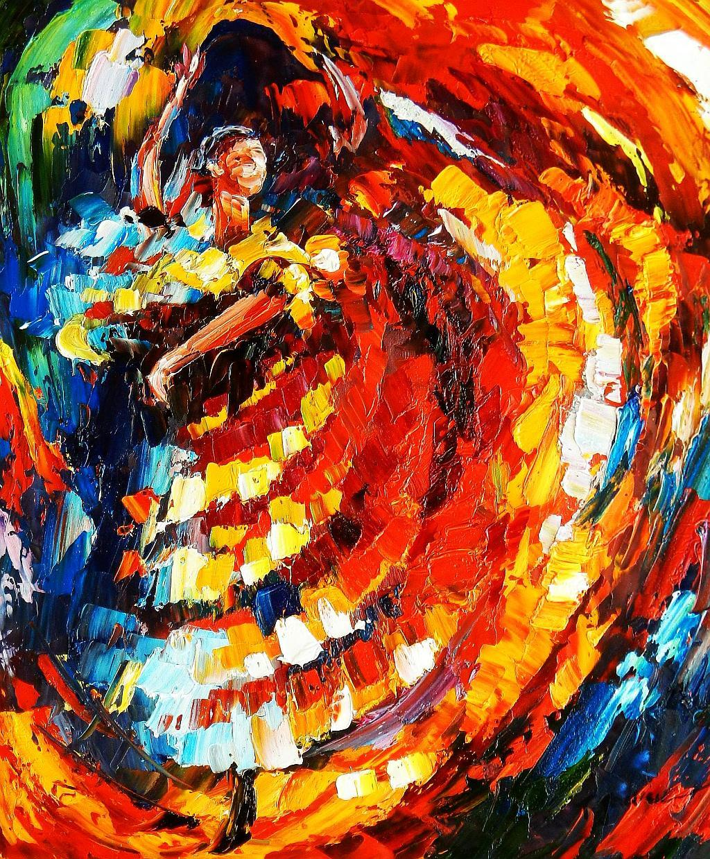 Modern Art - La Flamenco c93040 50x60cm stilvolles Ölgemälde