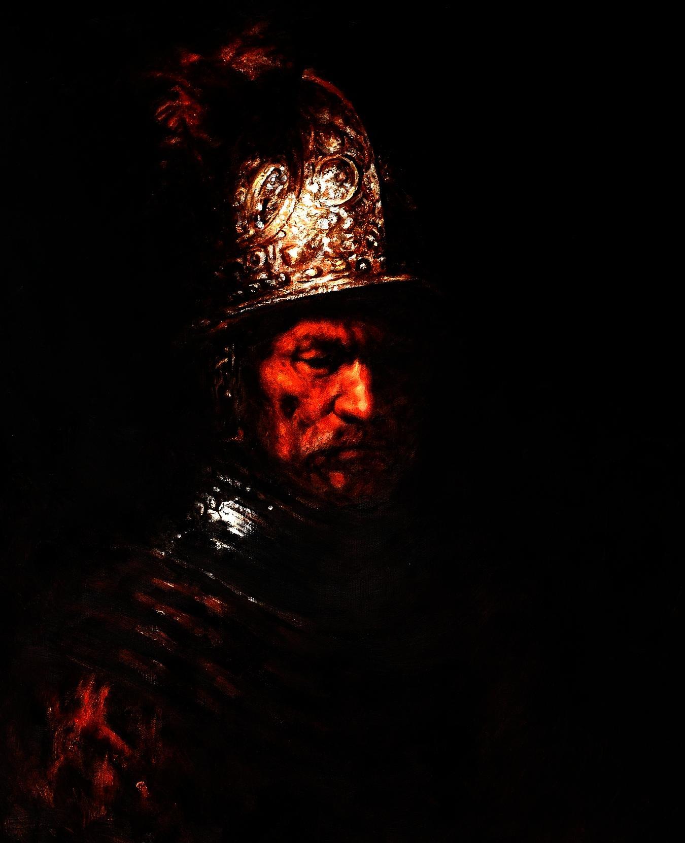 Rembrandt Mann Mit Goldhelm C93171 50x60cm Edles ölgemälde