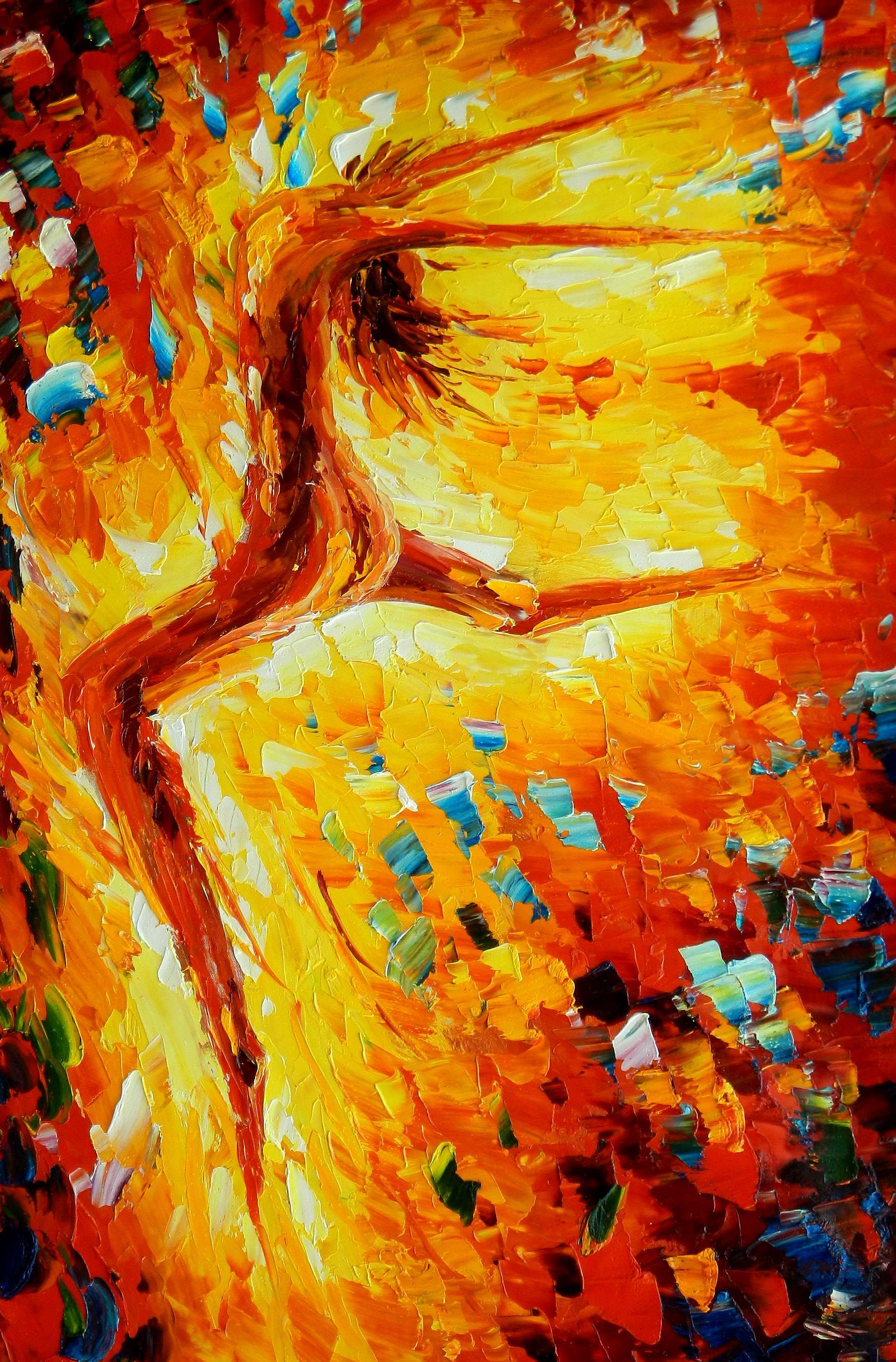 Modern Art - Passion der Tänzerin d93059 60x90cm abstraktes Ölbild