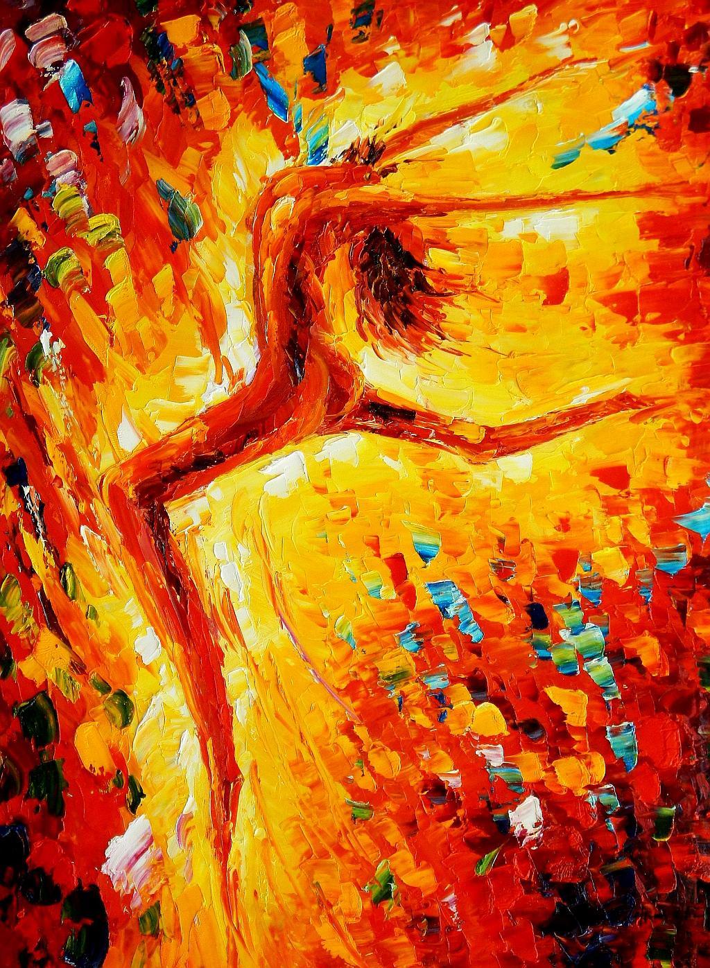 Modern Art - Passion der Tänzerin i93118 80x110cm abstraktes Ölbild