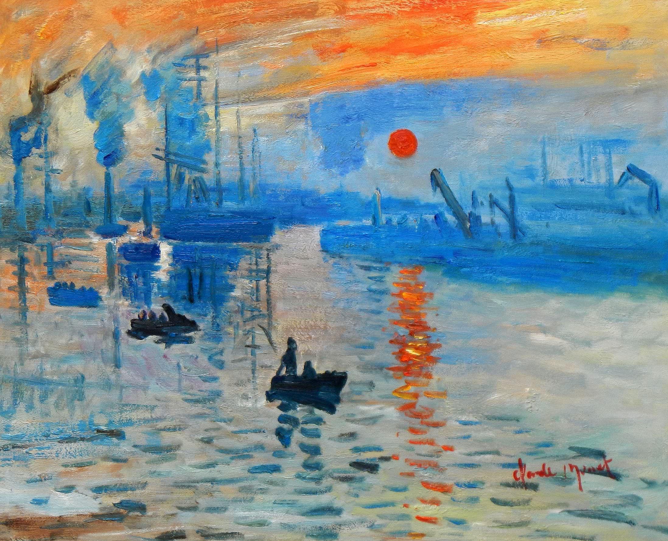 Claude Monet - Sonnenaufgang b93243 40x50cm Ölgemälde handgemalt