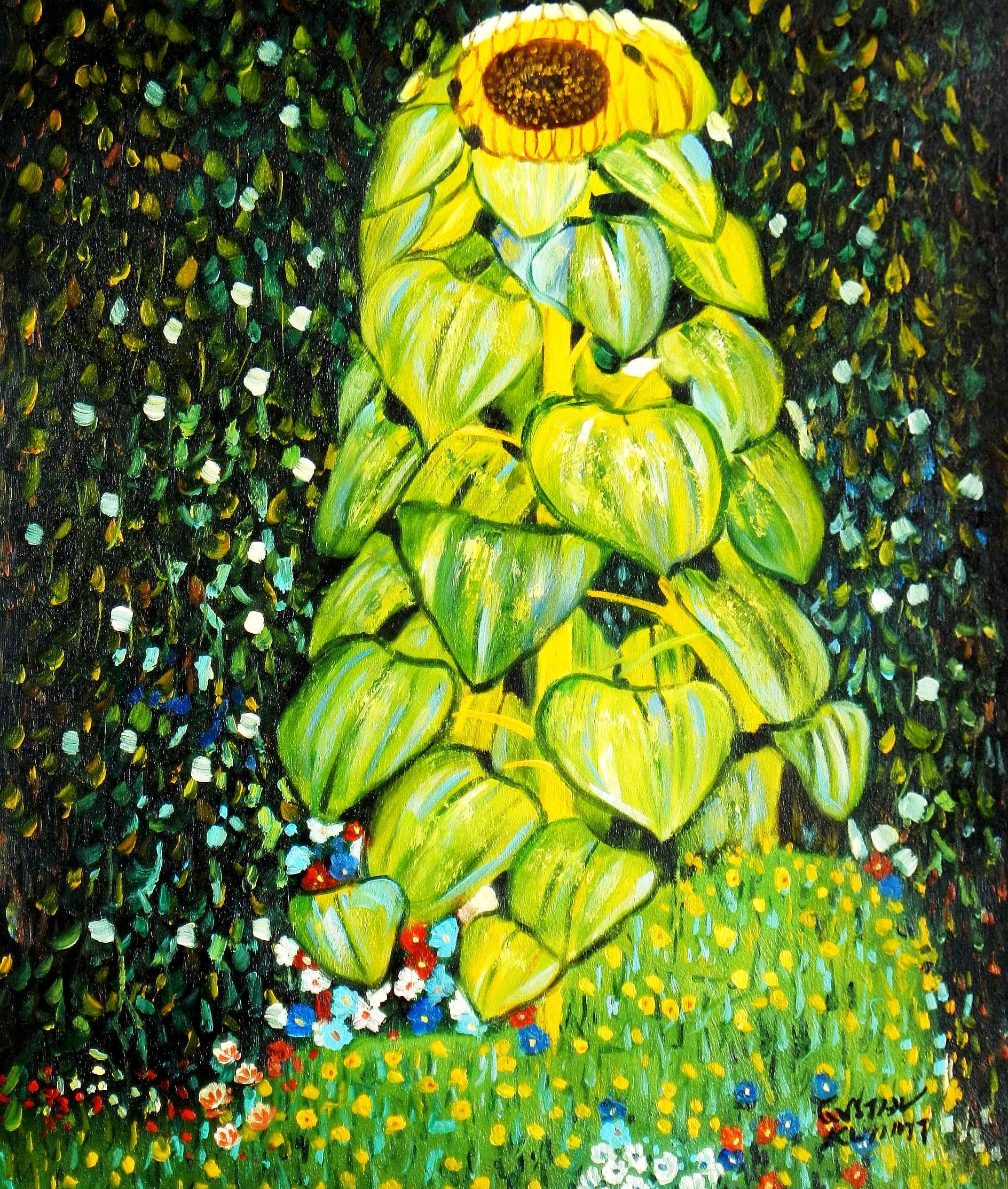 Gustav Klimt - Die Sonnenblume c93275 50x60cm handgemaltes Ölgemälde