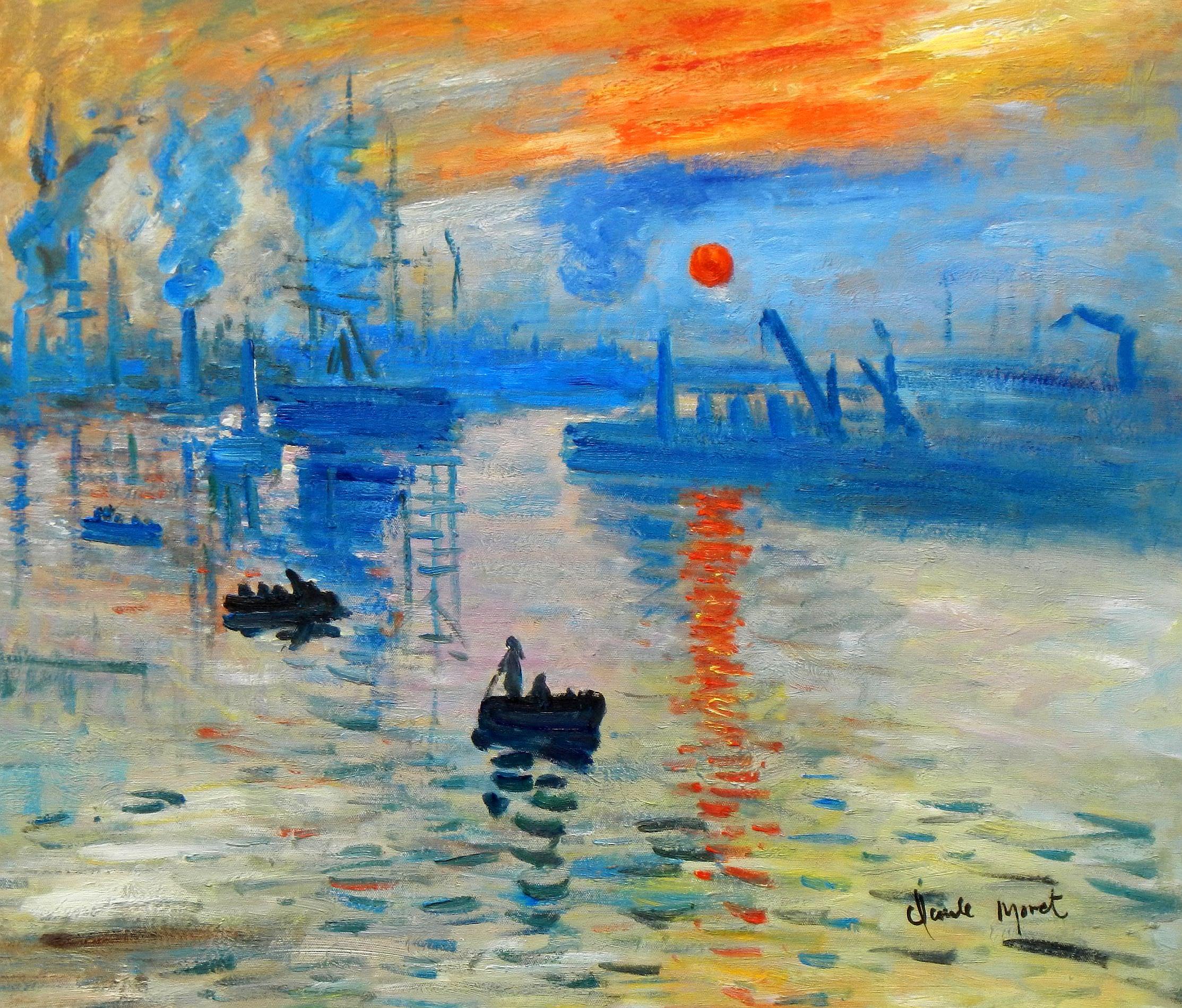 Claude Monet - Sonnenaufgang c93331 50x60cm Ölgemälde handgemalt