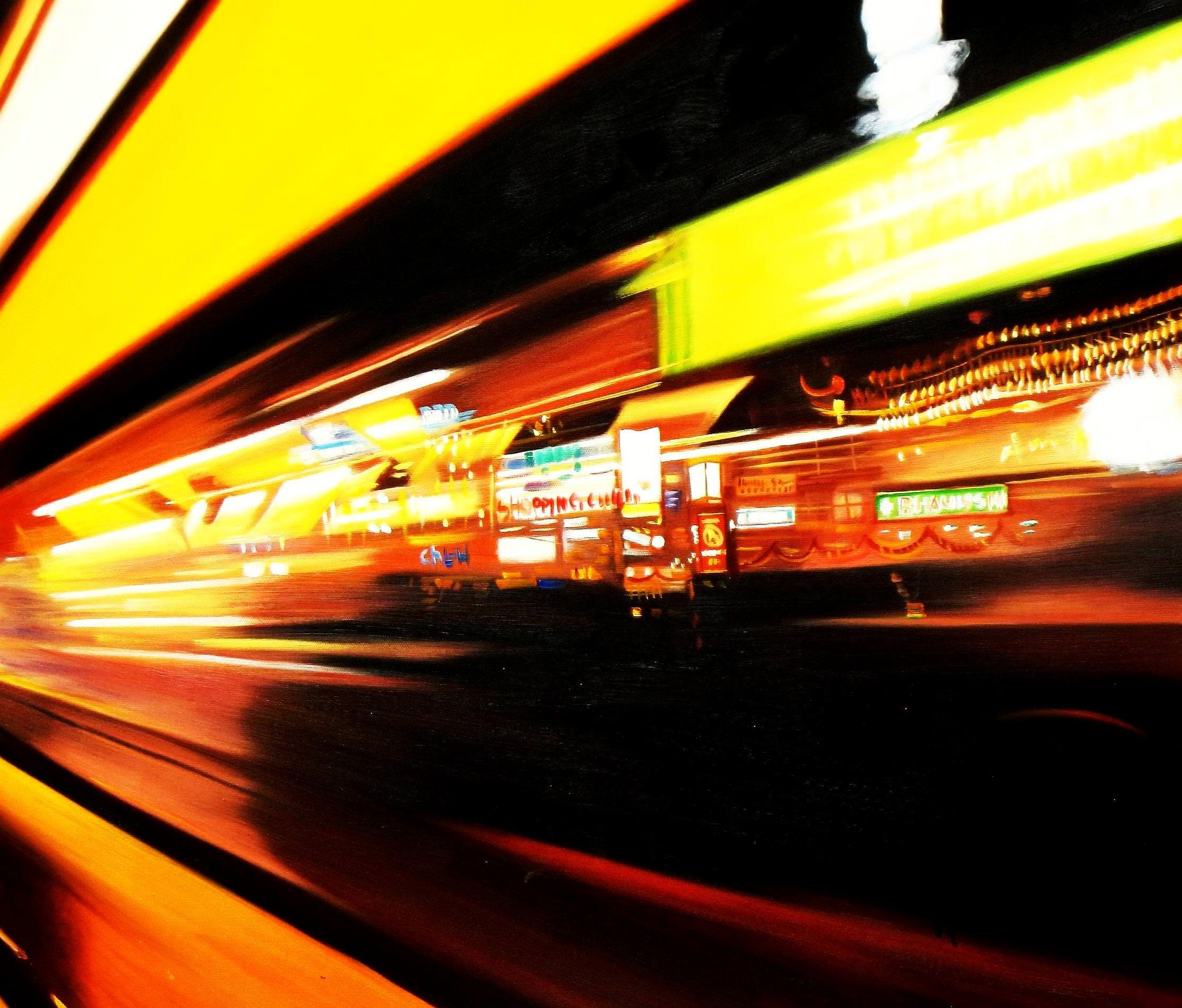 Modern Art - Berlin Tag und Nacht c93345 50x60cm Ölgemälde handgemaltes Ölbild