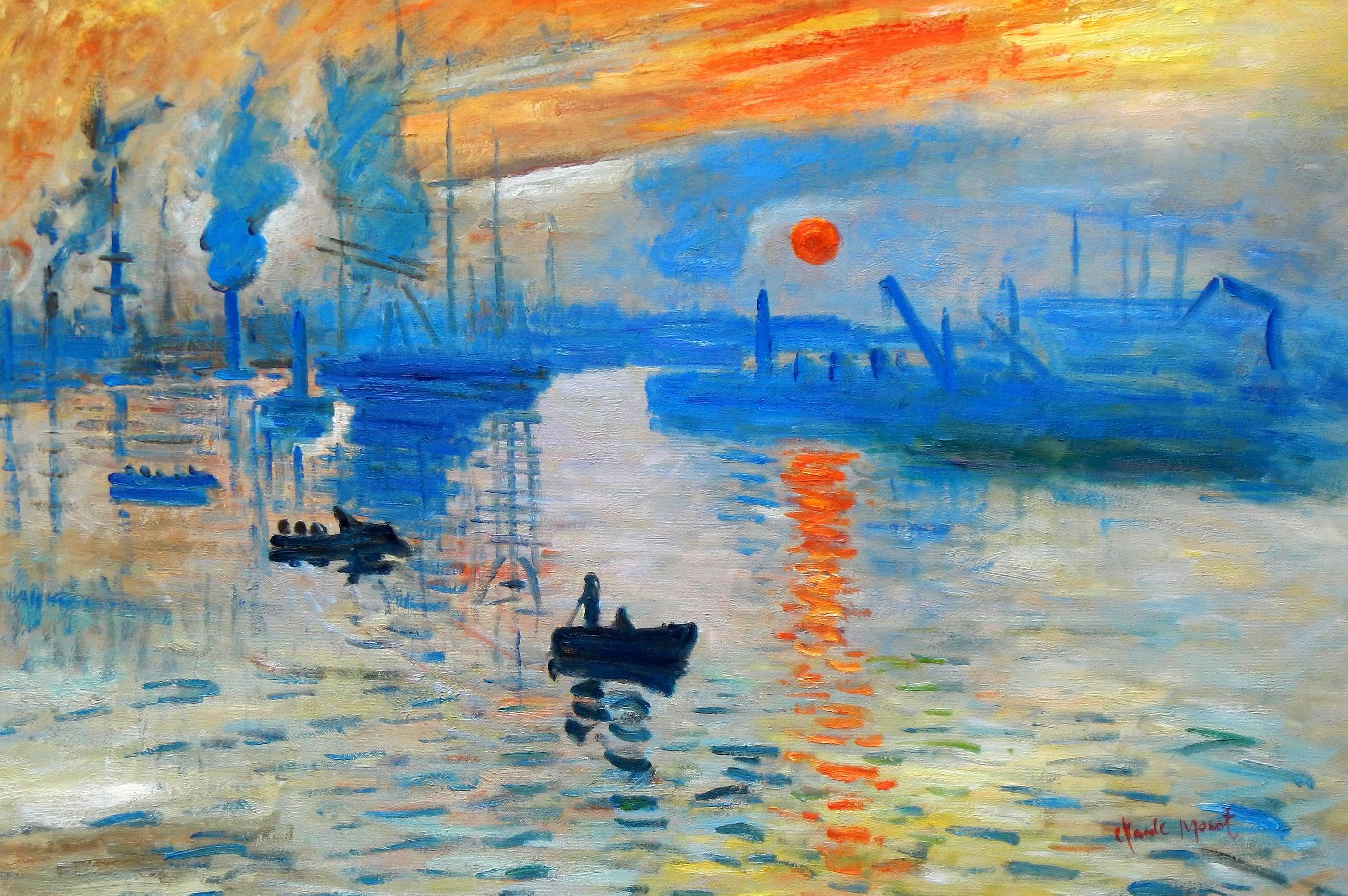 Claude Monet - Sonnenaufgang d93372 60x90cm Ölgemälde handgemalt