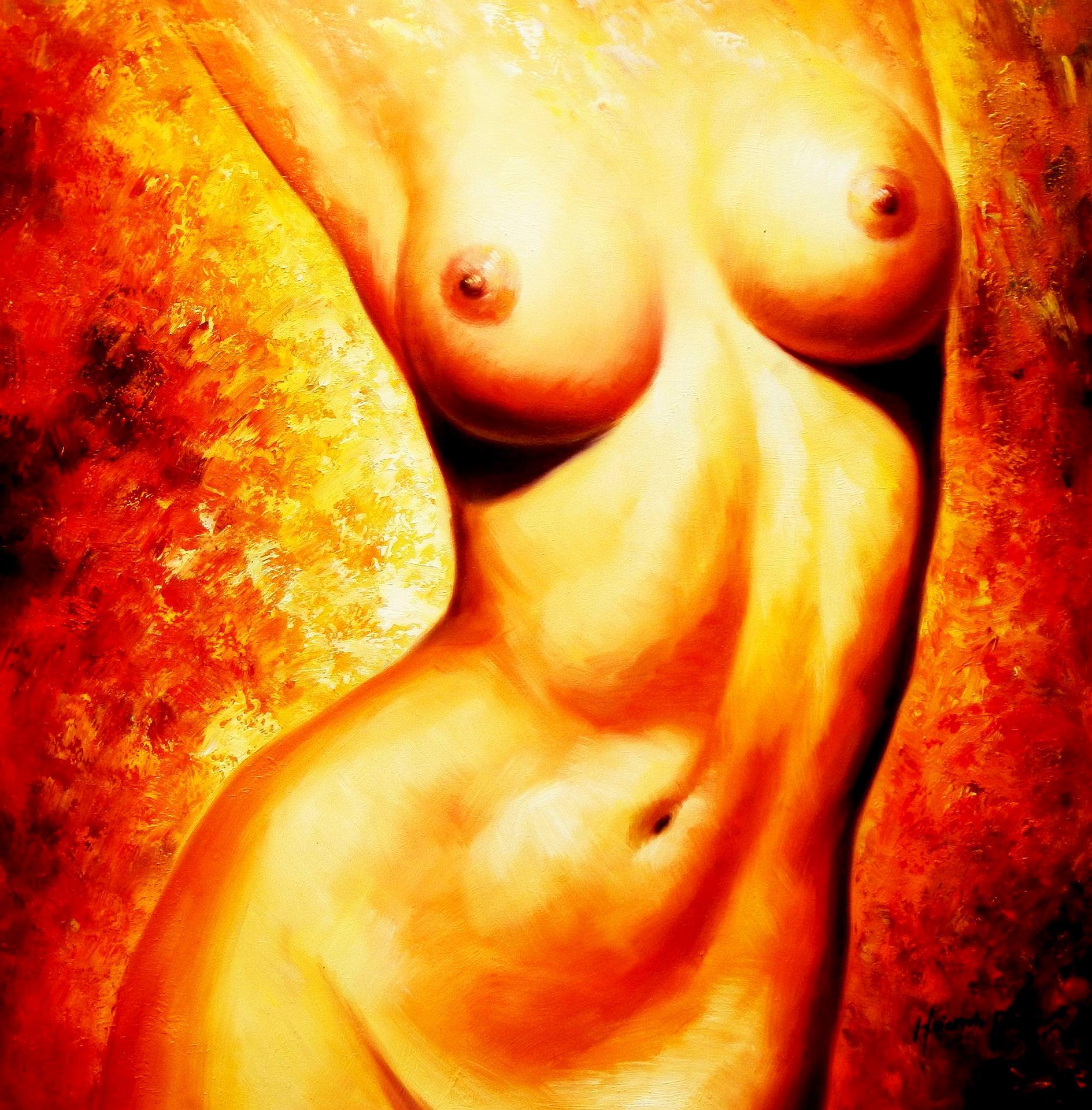 Modern Art - Akt der Schönheit g93483 80x80cm abstraktes Gemälde