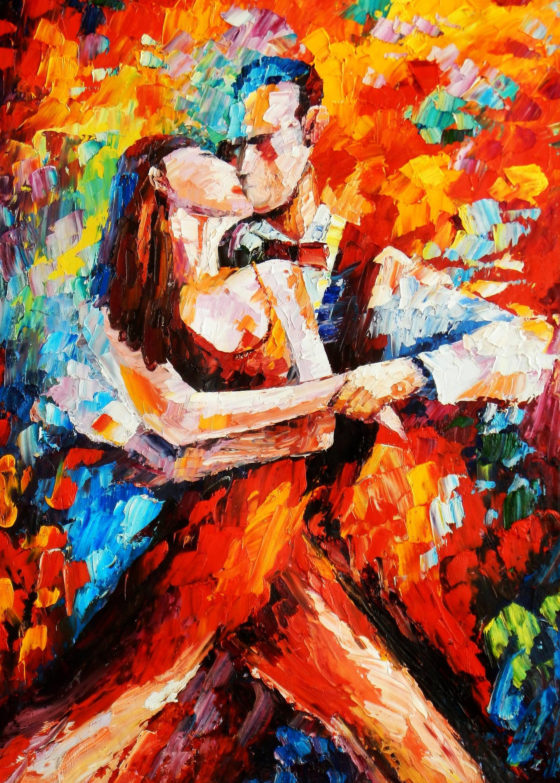Modern Art - The last dance III i93496 80x110cm exquisites Ölbild