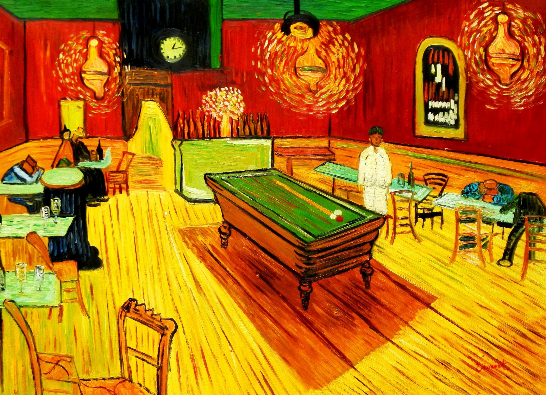 Vincent van Gogh - Billardsalon in Arles i93523 80x110cm stilvolles Ölgemälde