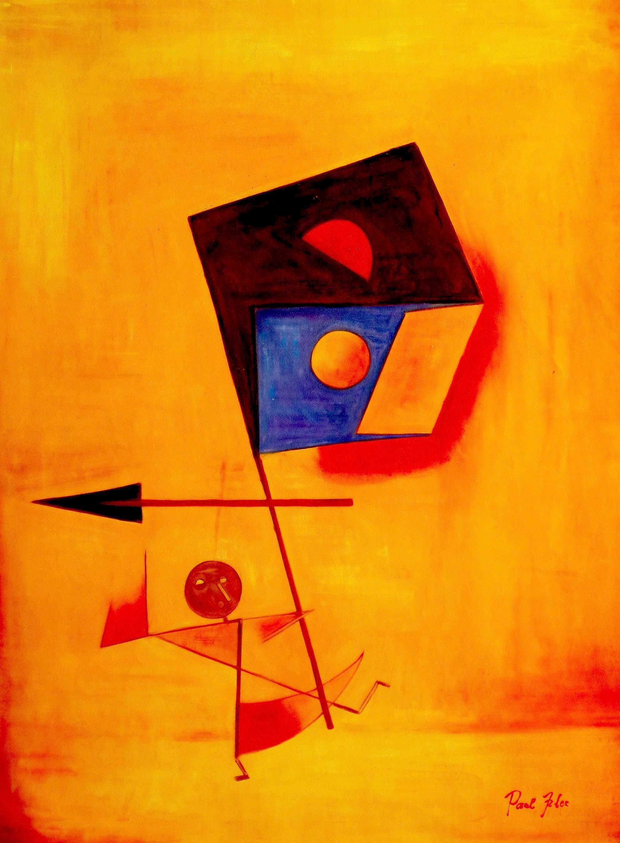 Paul Klee - Conqueror k93531 90x120cm exquisites Ölgemälde