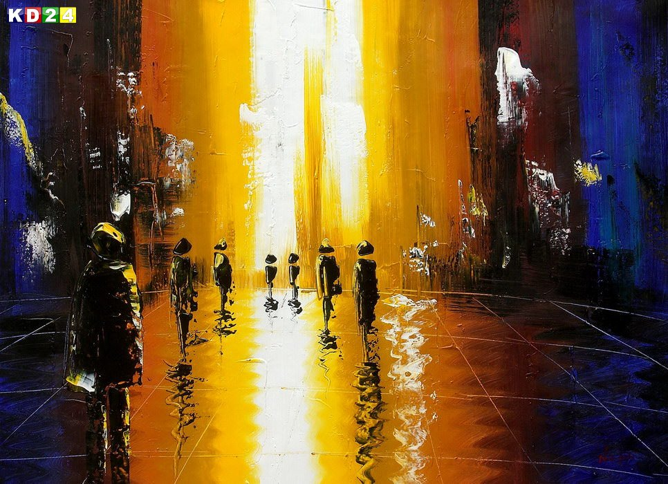 Abstrakt - Berlin Galeries Lafayette i87221 G 80x110cm abstraktes Ölbild handgemalt