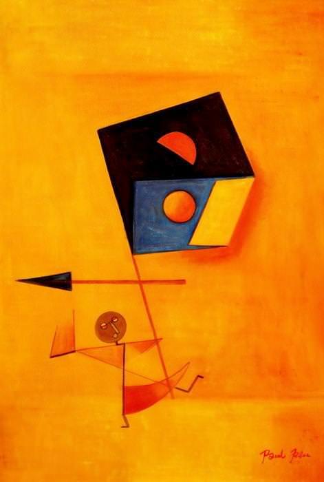 Paul Klee - Conqueror d92636 60x90cm exquisites Ölgemälde