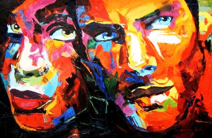 Modern Art - Die Geborgenheit d92648 60x90cm beeindruckendes Ölbild