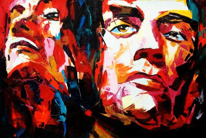 Modern Art - Die Wahrheit d92675 60x90cm exzellentes Ölgemälde