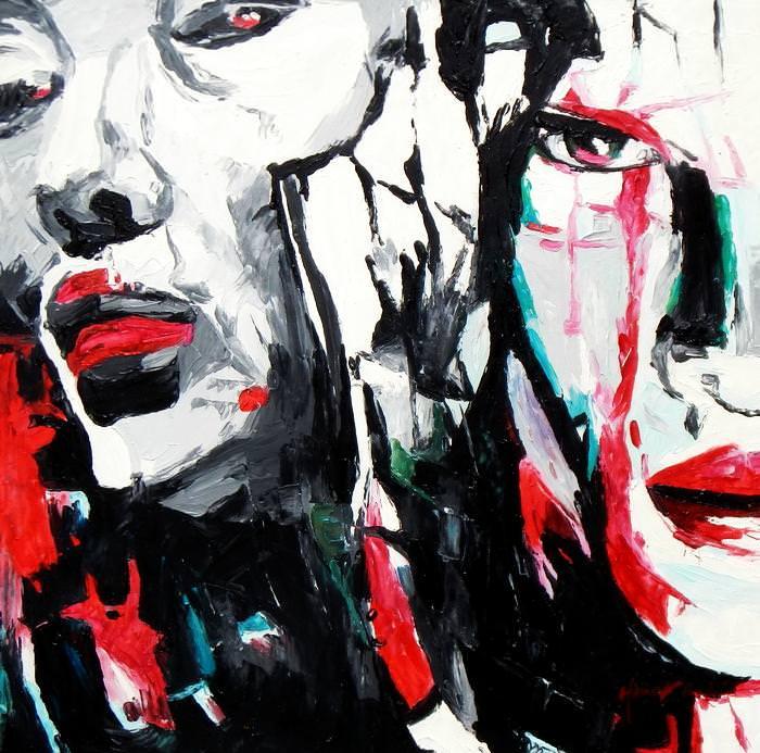 Modern Art - Die Gewissenhaftigkeit e92678 60x60cm beeindruckendes Ölbild