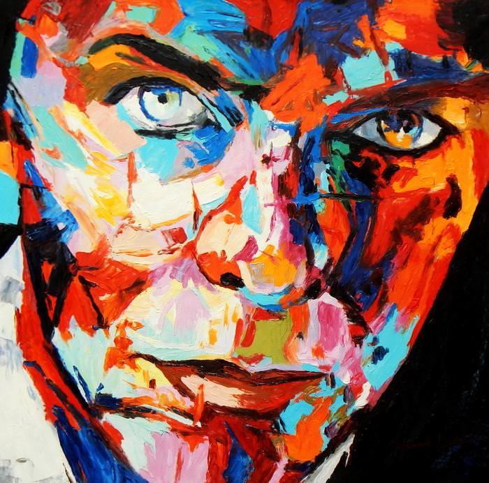 Modern Art - Die Gewissheit e92680 60x60cm exquisites Ölgemälde