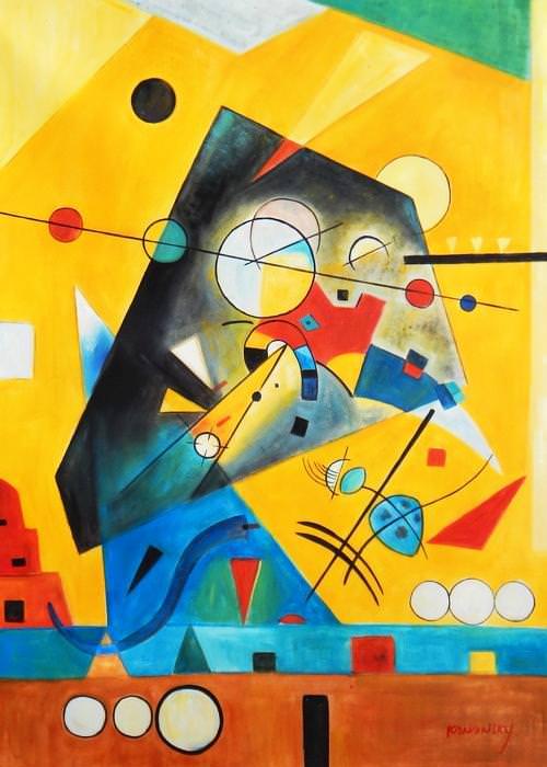 Wassily Kandinsky - Harmonie tranquille i92740 80x110cm Ölbild handgemalt