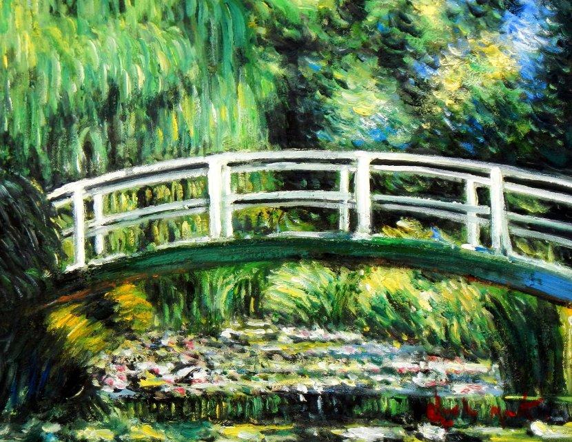 Claude Monet - Brücke über dem Seerosenteich a95465 30x40cm Ölbild handgemalt