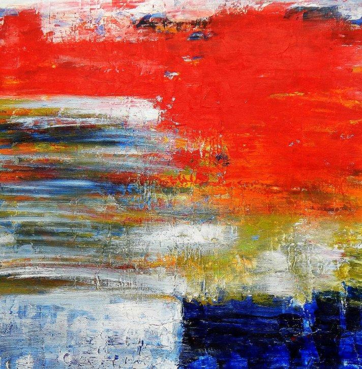 Abstrakt - Dynamische Textur e95558 60x60cm fantastisches Ölbild