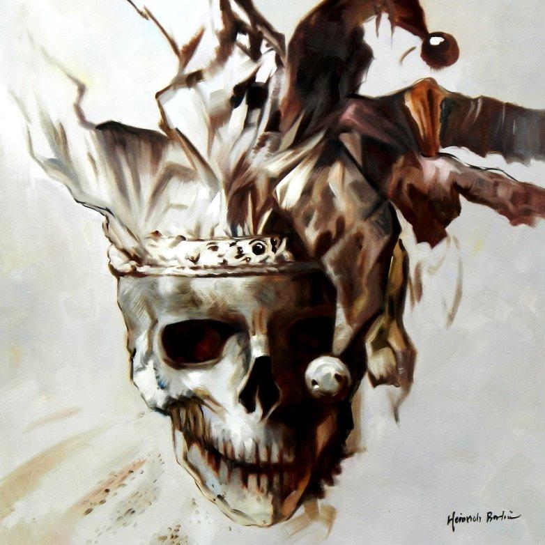 Modern Art - Joker skull g95602 80x80cm exquisites Gemälde
