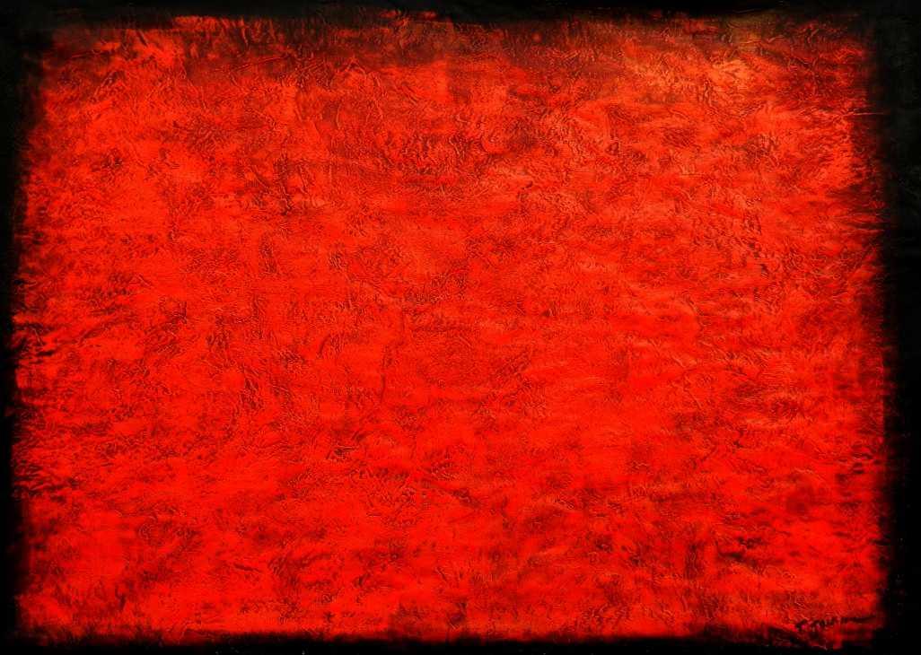 Abstrakt - Black Ruby i95655 80x110cm abstraktes Ölgemälde handgemalt