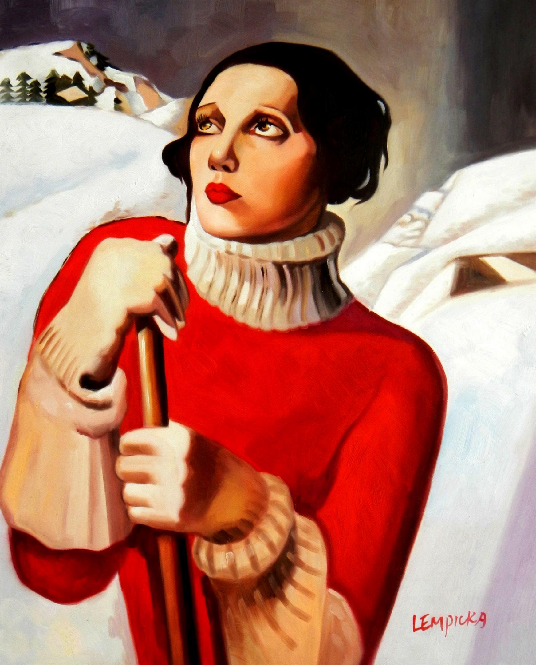 Homage to T. Lempicka - Sain Moritz b94543 40x50cm handgemaltes Gemälde