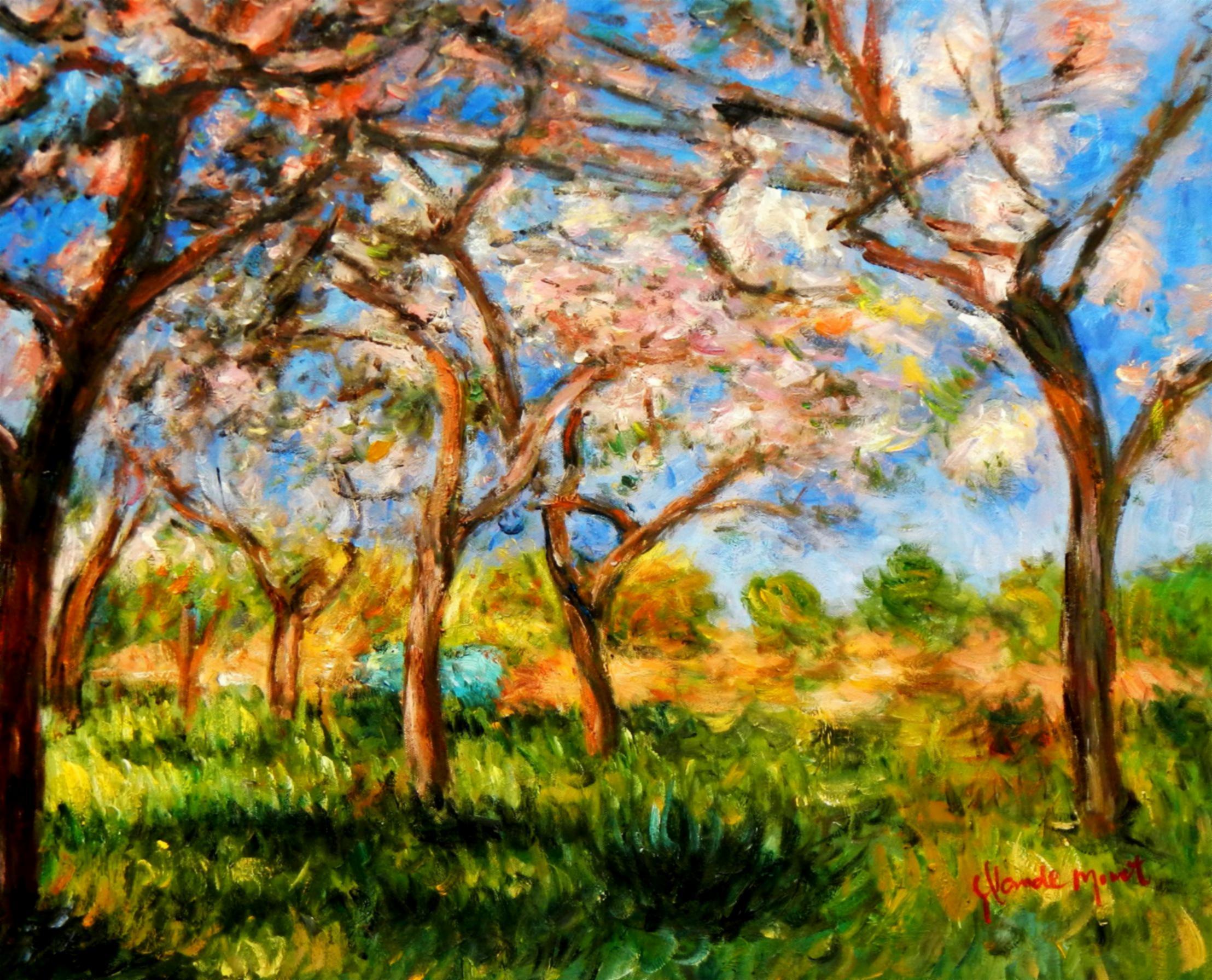 Claude Monet - Frühling in Giverny c94567 50x60cm exzellentes Ölgemälde