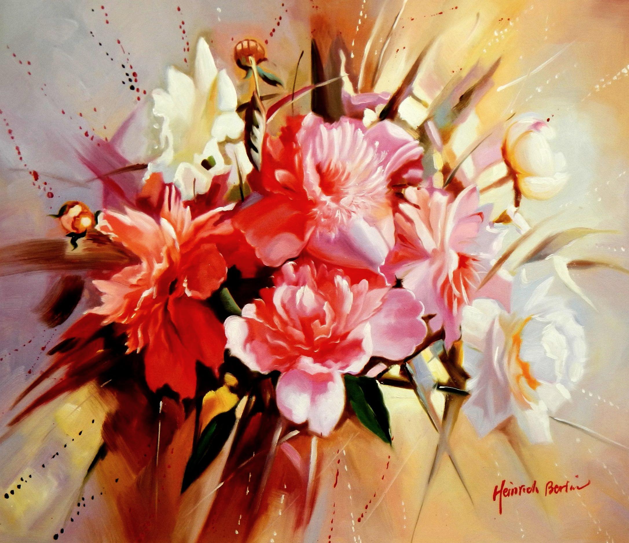 Modern Art - Das Blumenfest c94570 50x60cm handgemaltes Gemälde