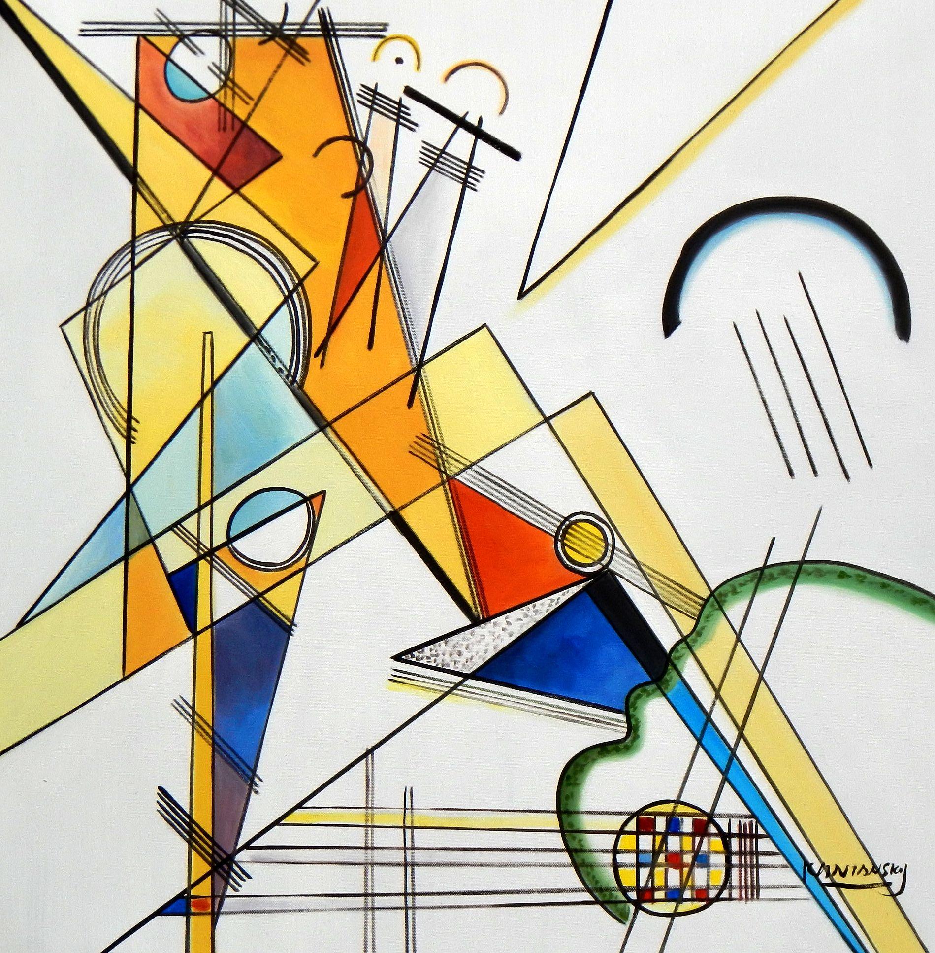 Wassily Kandinsky - Gewebe e94621 60x60cm beeindruckendes Ölbild