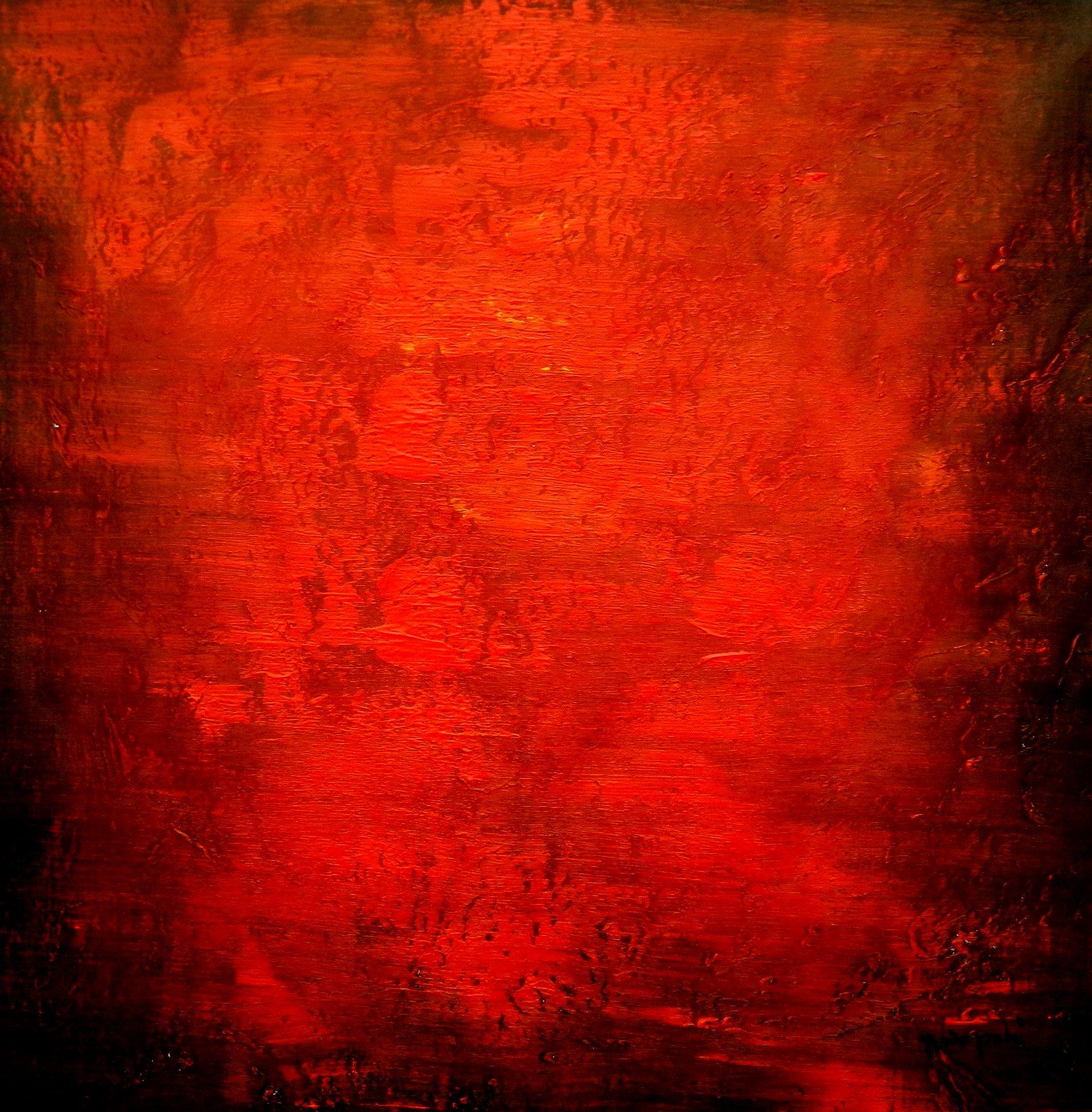 Abstrakt - Black Ruby e94623 60x60cm abstraktes Ölgemälde handgemalt