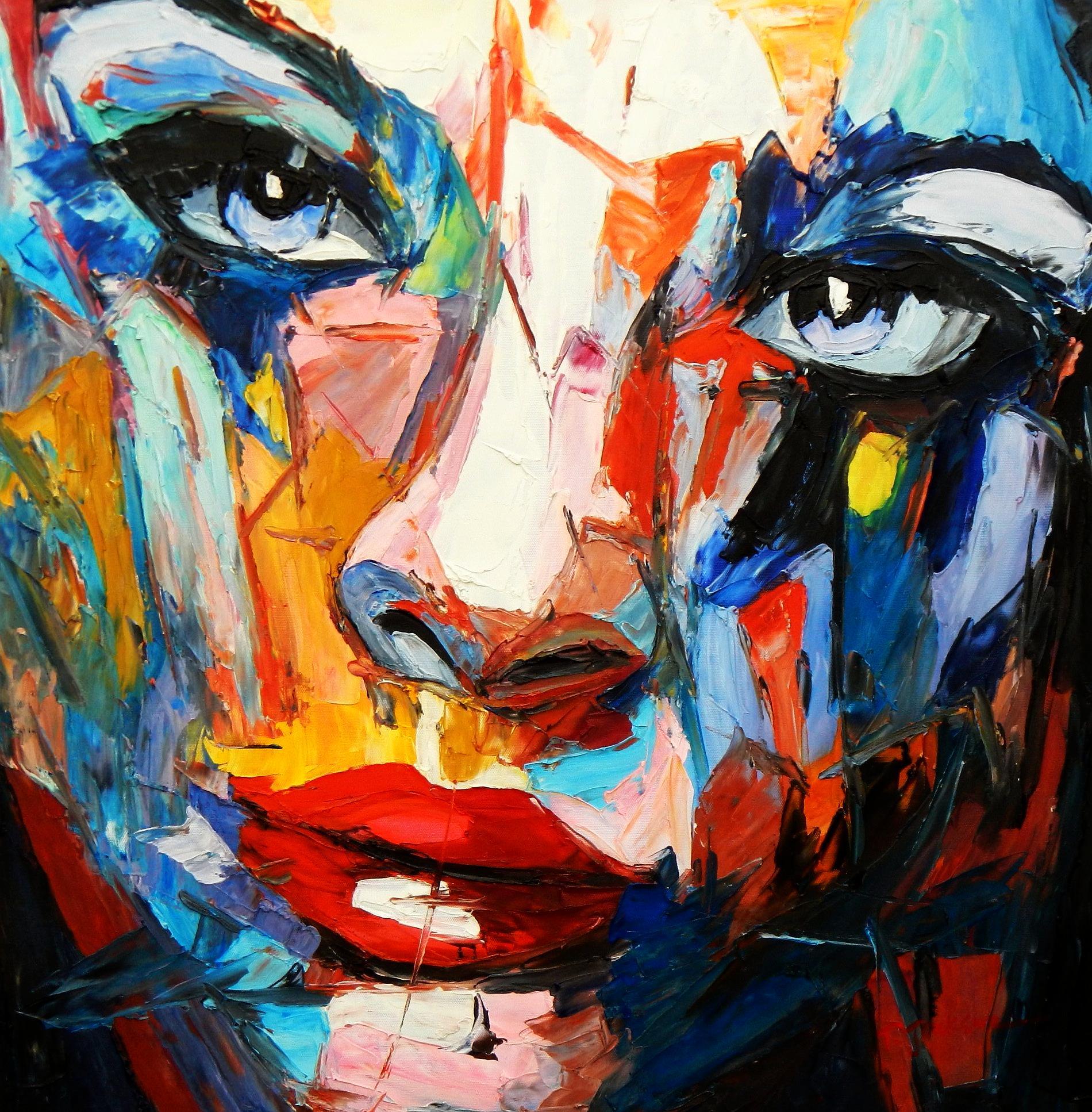 Modern Art - Die Schönheit II e94625 60x60cm beeindruckendes Gemälde