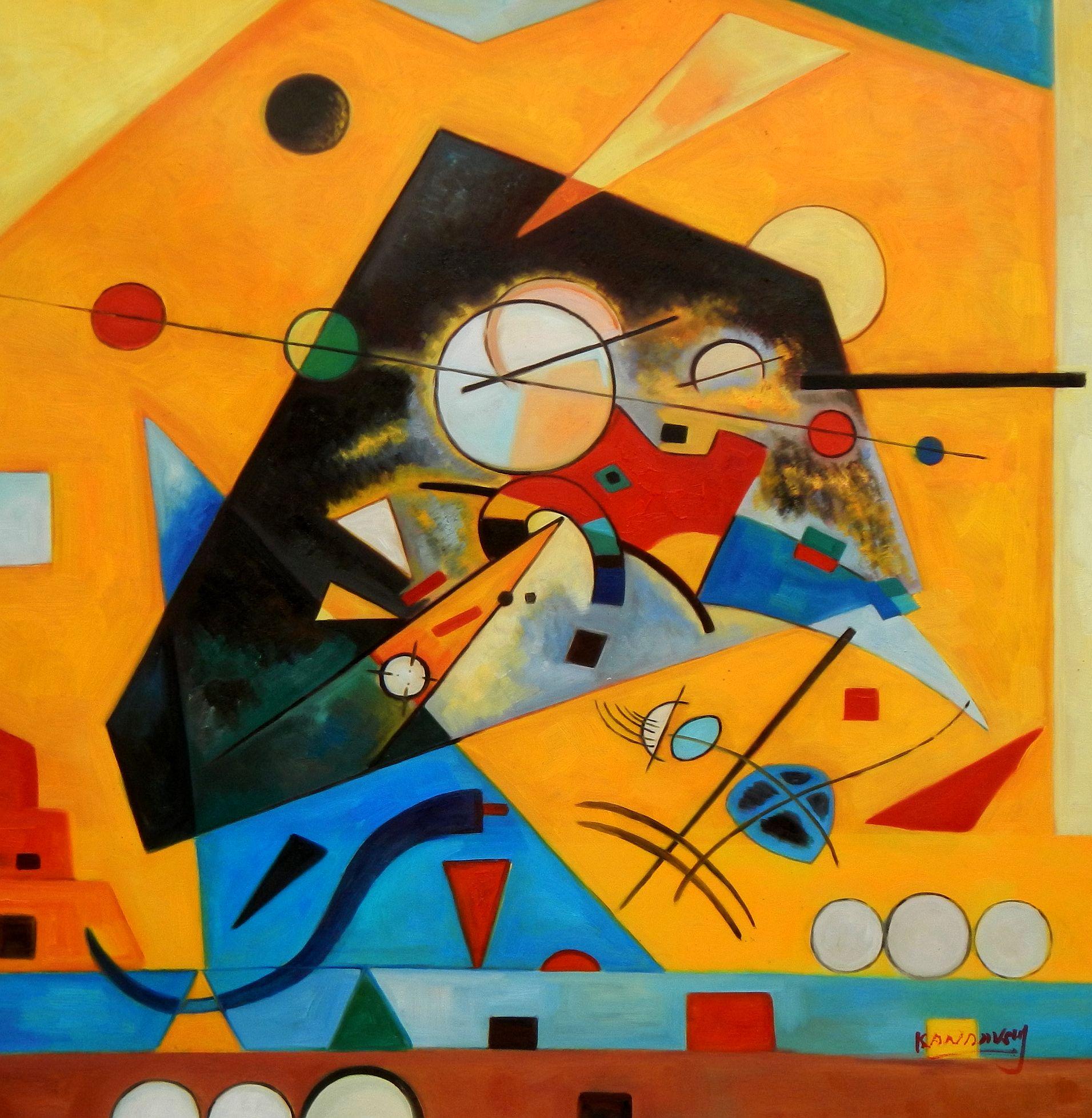 Wassily Kandinsky - Harmonie tranquille g94644 80x80cm Ölbild handgemalt