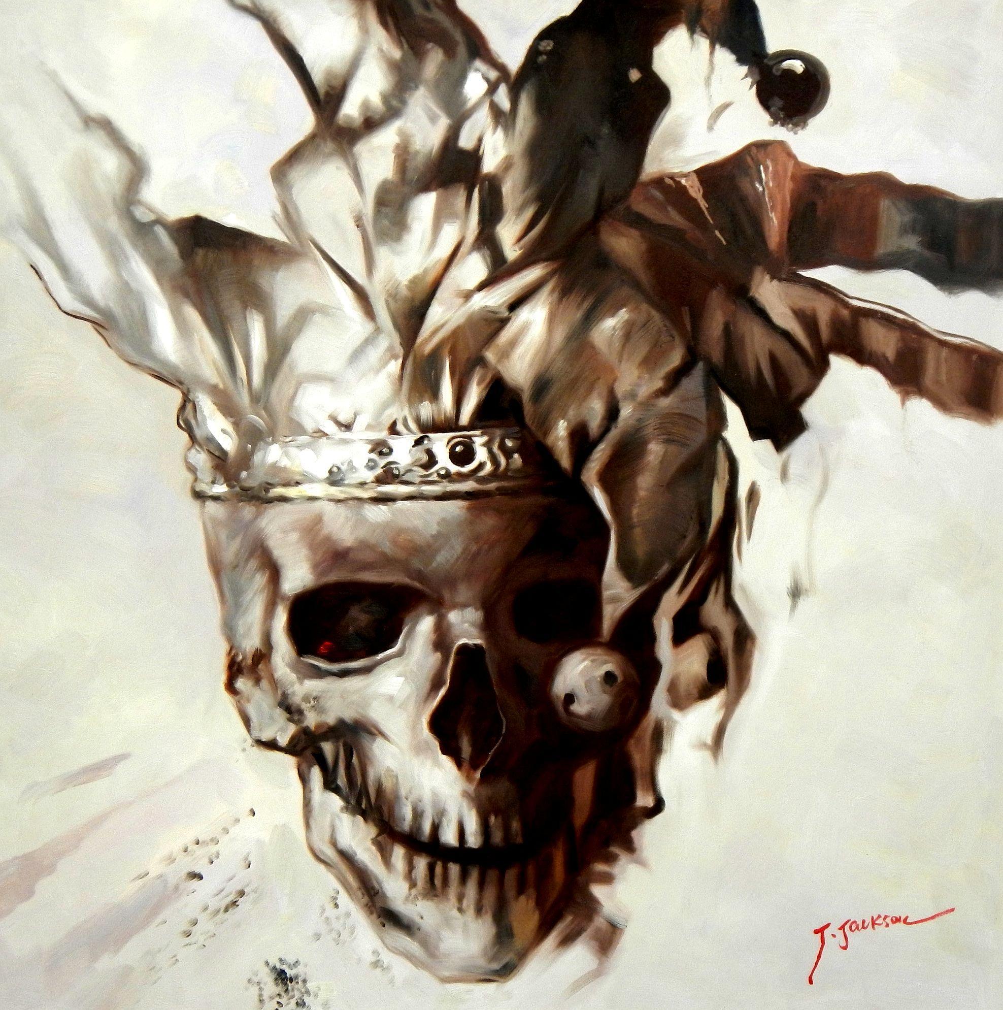 Modern Art - Joker skull g94648 80x80cm exquisites Gemälde