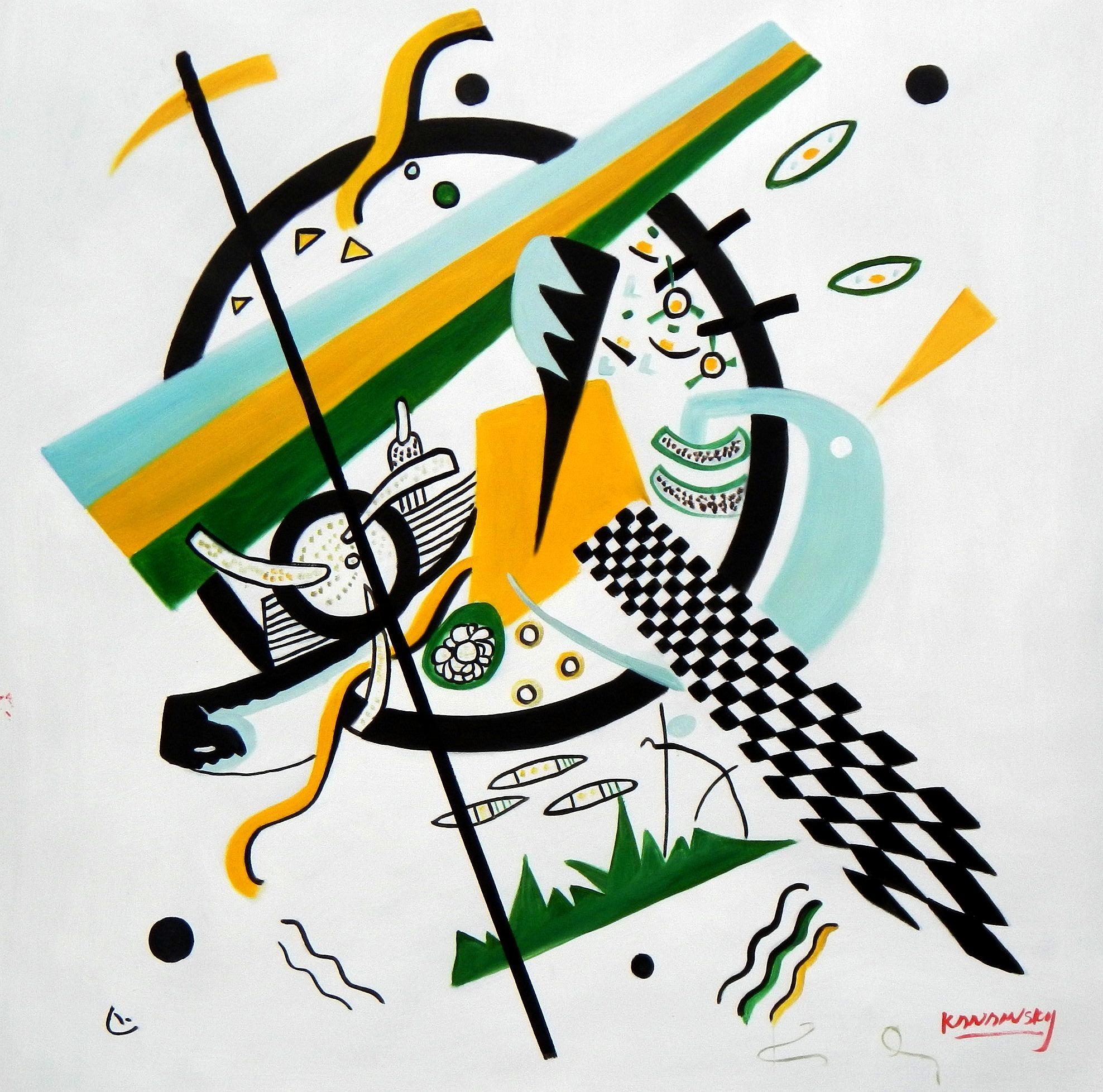 Wassily Kandinsky - Kleine Welten g94655 80x80cm exquisites Gemälde
