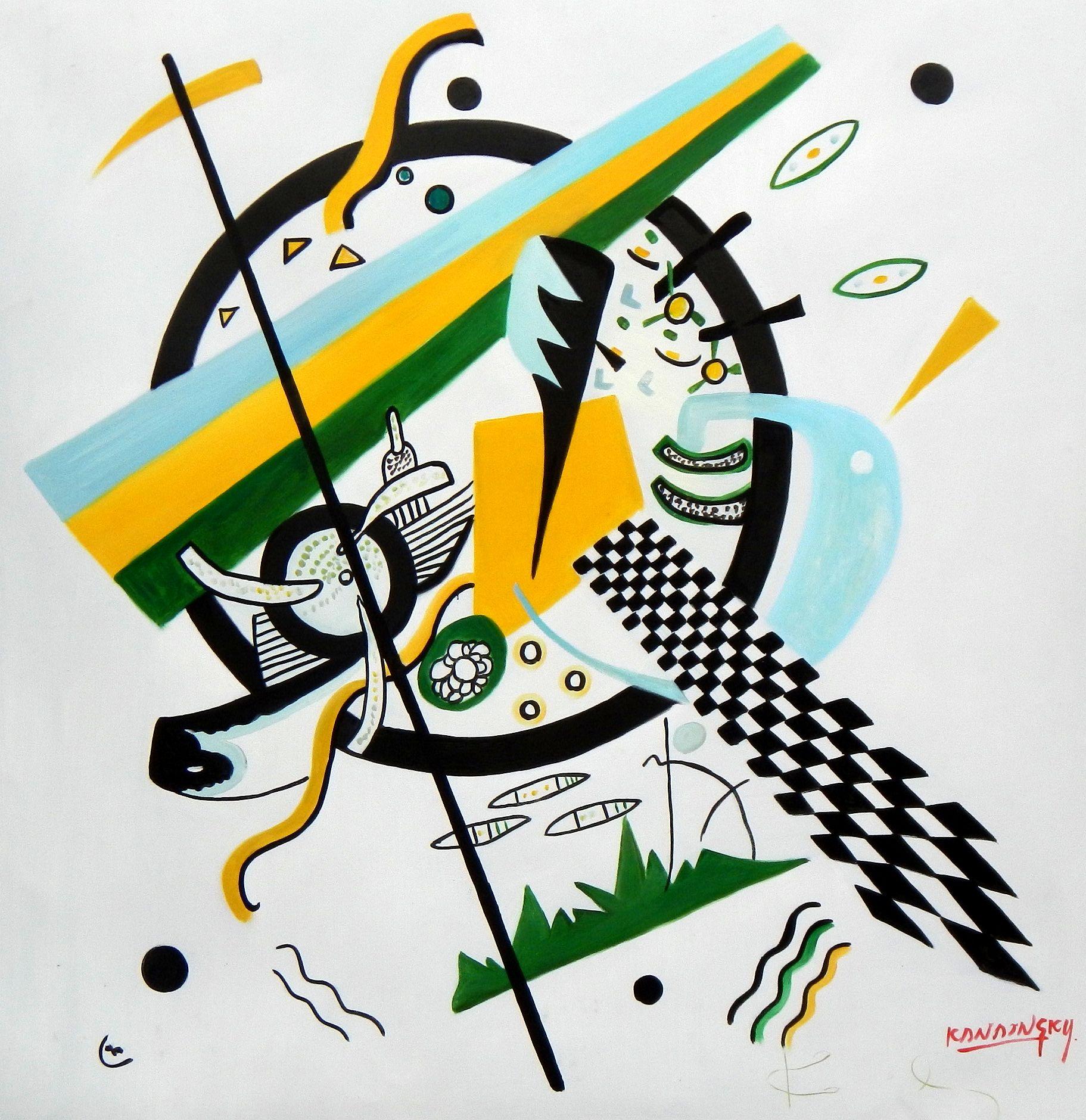 Wassily Kandinsky - Kleine Welten h94677 90x90cm exquisites Gemälde