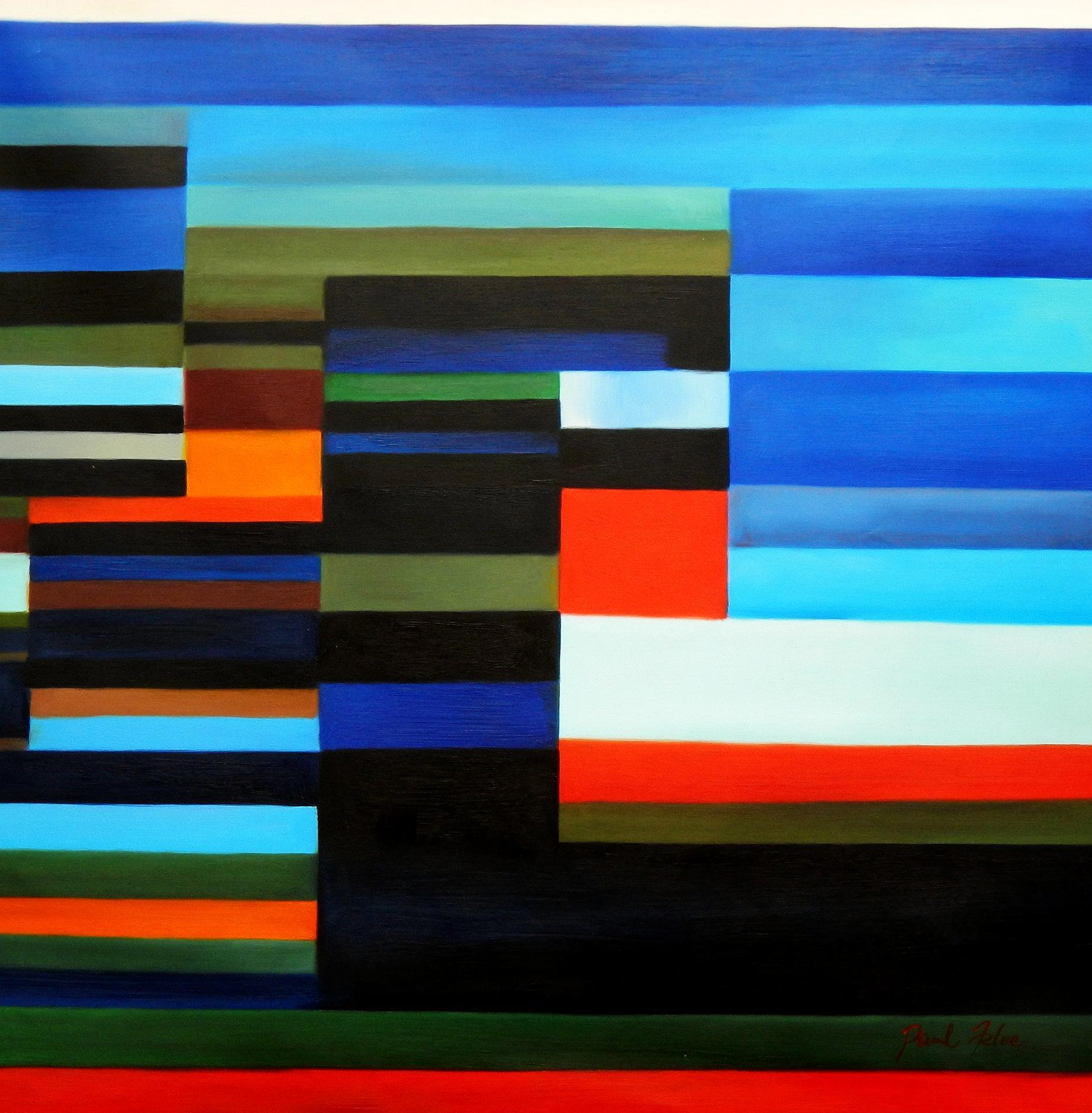 Paul Klee - Feuer am Abend h94678 90x90cm Ölgemälde handgemalt