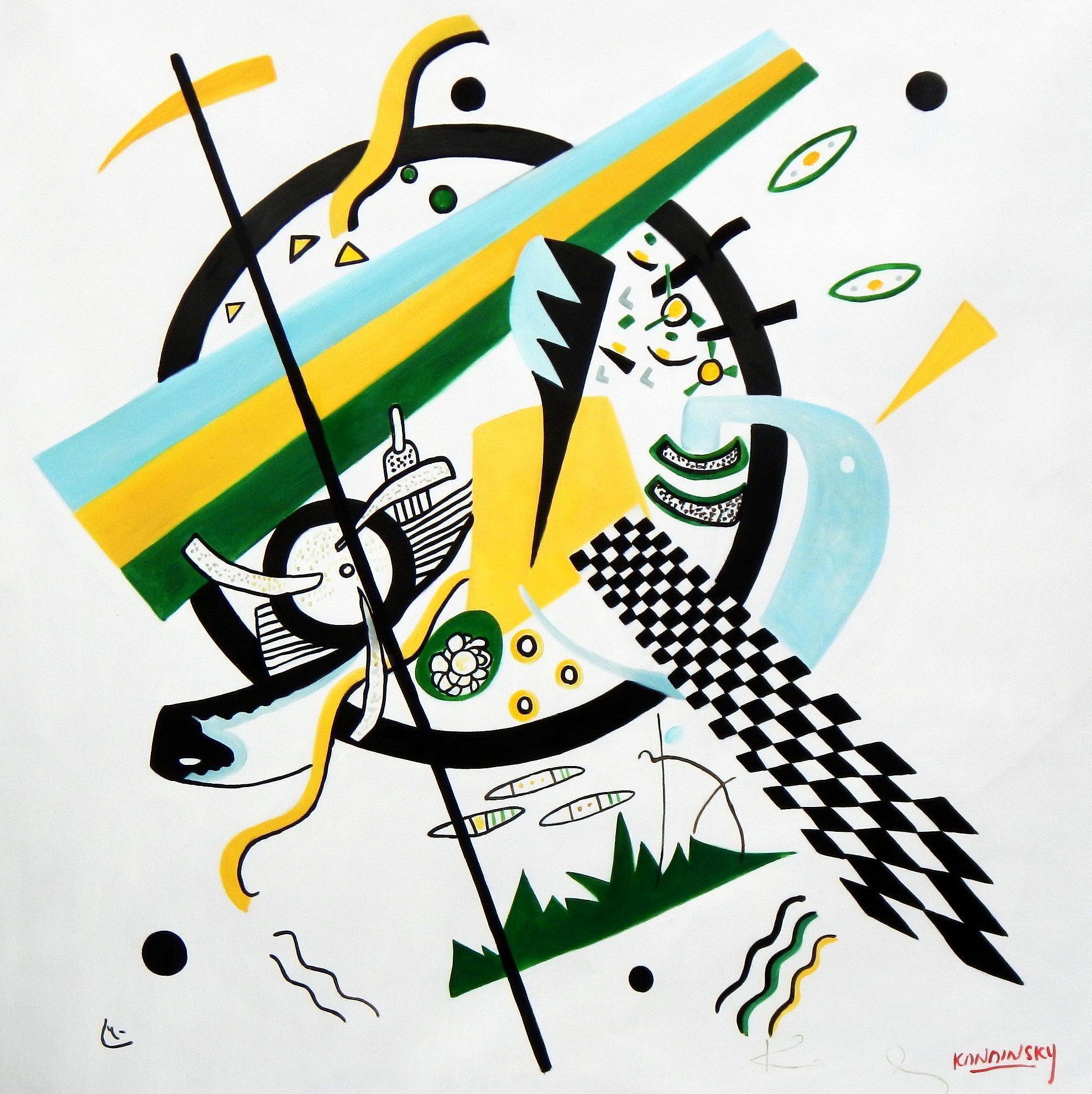 Wassily Kandinsky - Kleine Welten m94723 120x120cm exquisites Gemälde