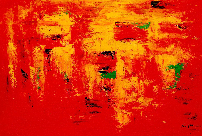 Abstrakt - Hot summer in Santa Fe p94739 120x180cm Ölbild handgemalt