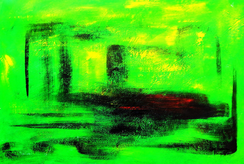 Abstract - Venice twilight d90620 60x90cm abstraktes Ölgemälde handgemalt