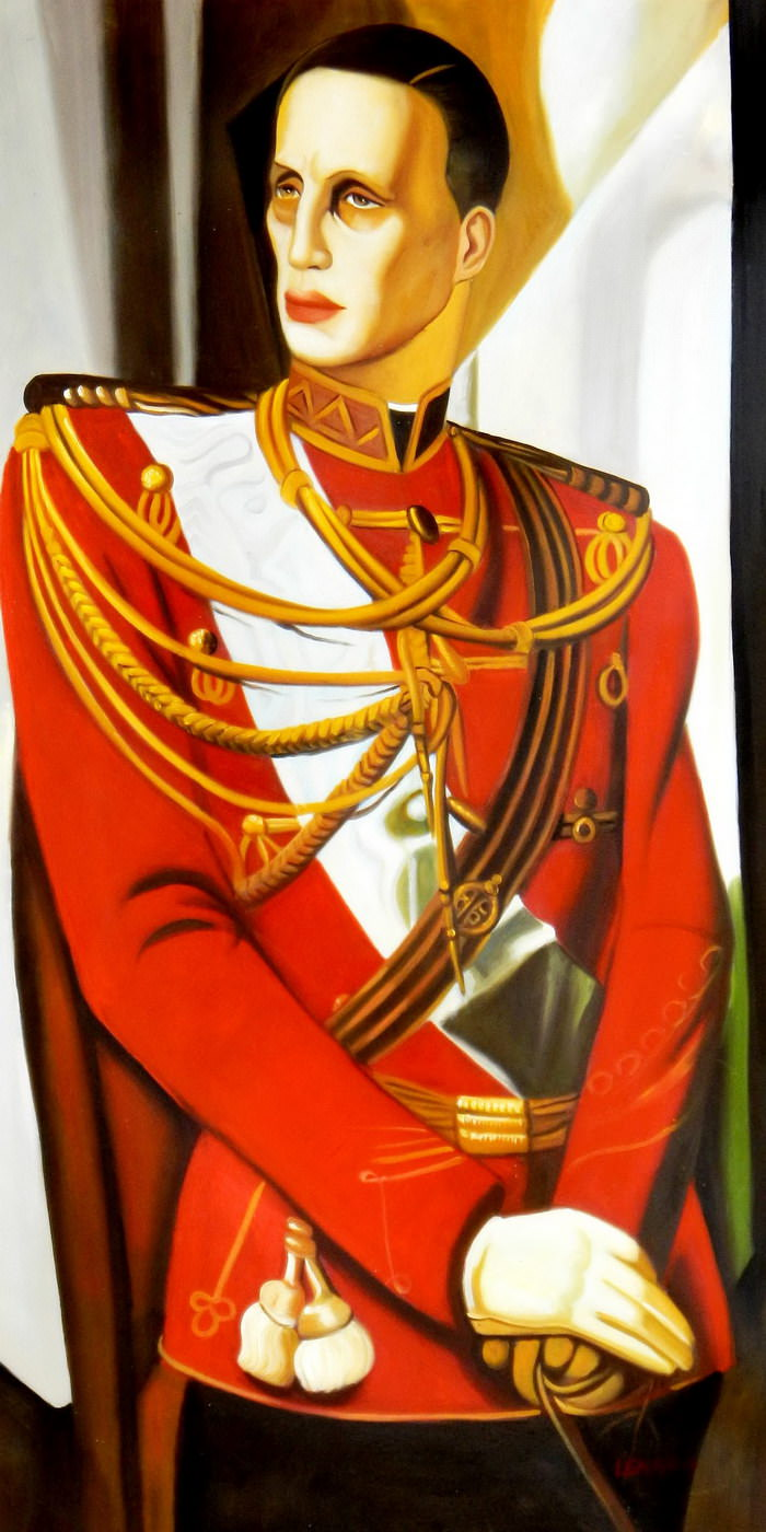 Homage of T. de Lempicka - Der Großherzog Gabriel f90761 G 60x120cm Art Deco Ölbild