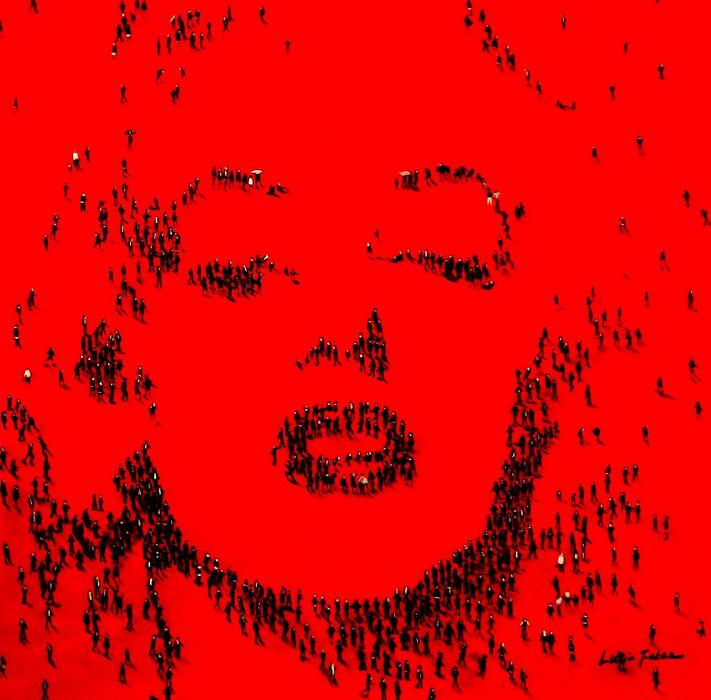 Modern Art - Marylin Monroes people g90686 P 80x80cm eindrucksvolles Gemälde handgemalt