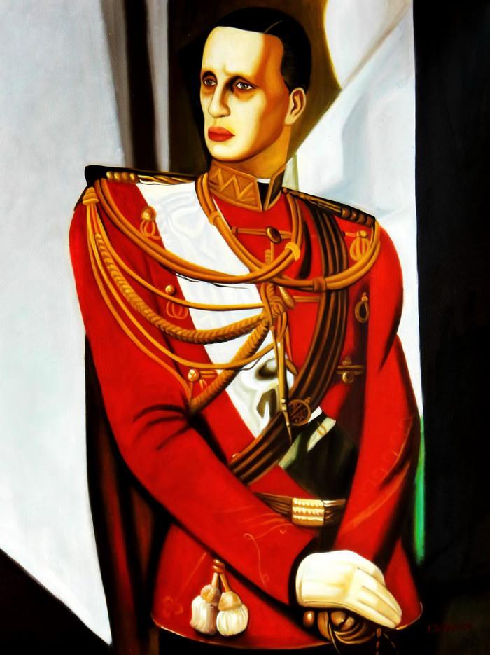 Homage of T. de Lempicka - Der Großherzog Gabriel k90805 90x120cm Art Deco Ölbild